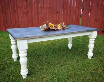 """The """"Sophisticated"""" French Country Farmhouse Table"""