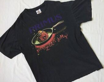 Free Ship Vintage90'  PRIMUS frizzle fry Shirt