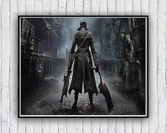 Bloodborne Dark souls Poster, Bloodborne Dark souls Poster Print, Available in 4 sizes
