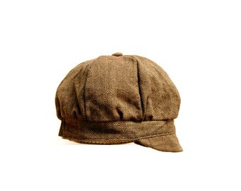 Organic Cotton Newsboy Cap