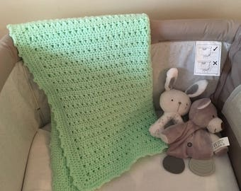 Green pram blanket
