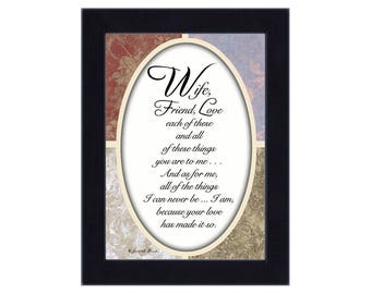 Wife, Romantic Gifts for Wife from Husband, 7x9 77911