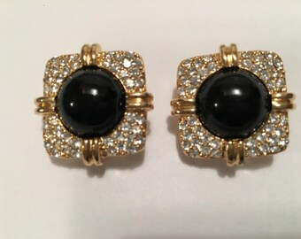 Vintage Joan Rivers Earrings Signed Costume Jewelry