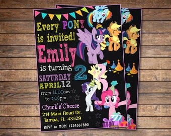 My Little Pony Invitation, My Little Pony Birthday Invitation, My Little Pony, My Little Pony Printable, My Little Pony Card