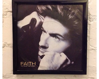George Michael  gift for him 2018 50th gift him cool girlfriend 50th idea gift idea boyfriend 50th gift ideas men picture sleeve frame