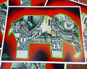 Money Elephant Print