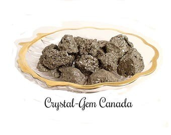 2 (two) gorgeous raw Pyrite, Decoration Stones. - Gemstone for intelligence and mental stability. Gemstone, infused w Reiki