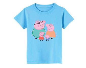 Peppa Pig and Family T-Shirt for children - available in many sizes and colors