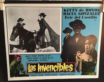 Set of 6 Lobby Cards Las Invencibles  (1964) Director FEDERICO CURIEL