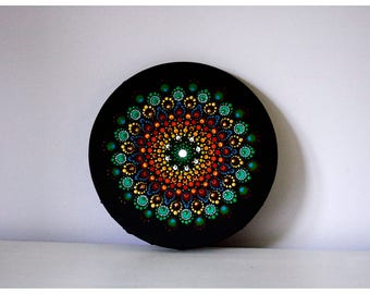 Mandala painting, mandala dots painting, dotart, painting on canvas