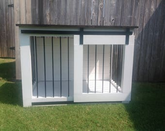 Rustic Dog Crate Sliding Barn Doors Fully Custom Dog