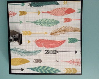 Feather paper Wood Picture Holder