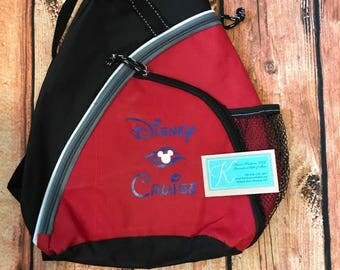 Fish Extender Gift Disney Cruise inspired Sling Backpack
