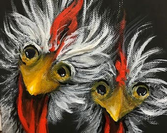 Rooster and Friend print
