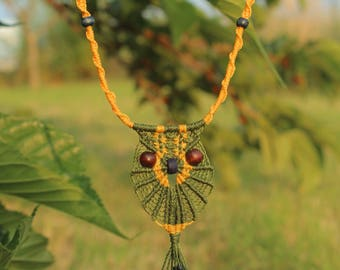 Lucky Owl Macrame Necklace