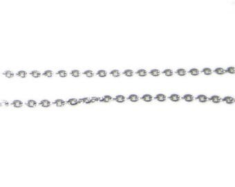 """1mm Antique Silver Link Chain, 40"""" length"""