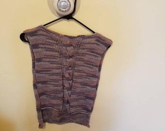 blouse, melange, cotton