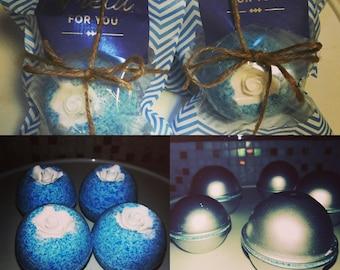 Blue Lavander Stress Away Bath Bombs