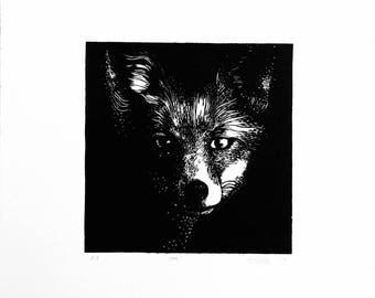 Fox (2017) Linocut Print - Artist Proof prints