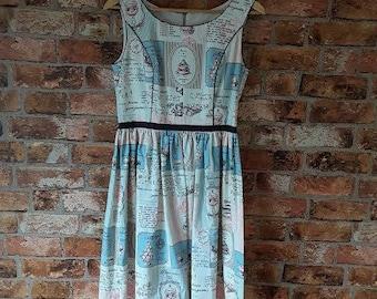 Vintage Inspired handmade dress. Macaroon French Print