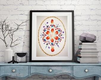 Artwork, Wall decor- Mandala DIGITAL DOWNLOAD