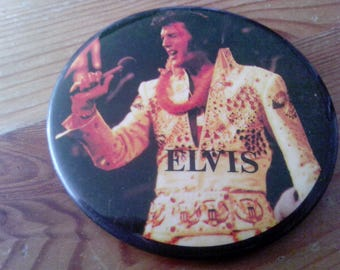Elvis Presley early 70s button.
