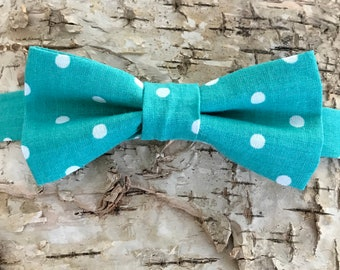 kids bow tie, bow tie for kids, toddler bow tie, bow ties for toddlers, bow tie, bowtie, bow ties, bowties, teal bow tie, polka dot bow tie