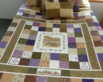 Patchwork Quilt Queen size Potting Shed