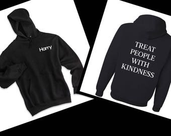 Harry Styles / Harry in Corner Front / Treat People With Kindness Back Hoodie