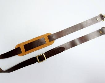 Real Leather Straps for Tote Bag with Wide 4 cm long 120 cm.