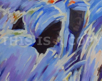 TWO BROTHERS: Downloadable Authentic African Painting Direct From The Artist