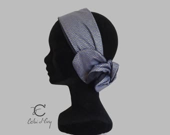 Blue Japanese fabric headband