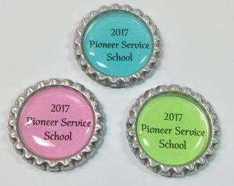 2017 Pioneer Service School Bottlecap Magnets