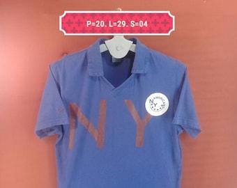 Vintage Nike Shirt NYA Big Logo Shirt Blue Colour Size L Nike Shirts Adidas Shirts Polo RL Shirts USA Nike Olympic Running Men