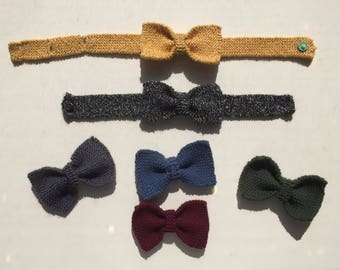 Hand Knit Bow Tie