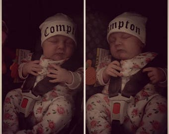 Funny Compton baby hat 0-3 months