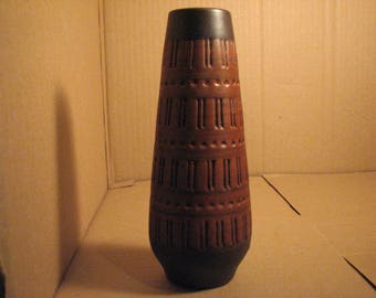 Clay pottery vase-sign, made in Germany