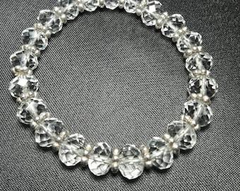 Clear Crystal Bridal Bracelet, African crystals