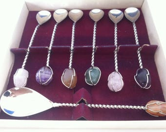 Handmade Ornament Gemstone Spoon Cutlery Set