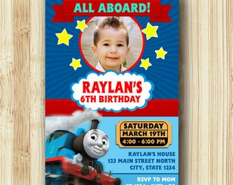 Thomas The train Invitation / Thomas The Train Birthday / Thomas The Train Birthday Invitation / Thomas party / Thomas The Train-A347