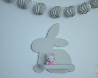 Bunny Shelf, Nursery Decor, Kids Room Decor, Rabbit, Wall Decorations, Animal Shelves