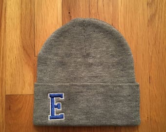 INITIAL BEANIES (1-2 letters) in favorite colors, team colors, camp colors, college colors, school colors, town colors, any colors!