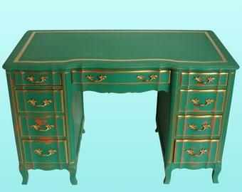 Provincial Style Nightstands - Vintage Nightstands - 7-Drawers Desk