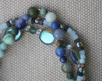Blue Tone Bracelets #499