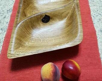 Oak wooden bowl. Hand made bowl.