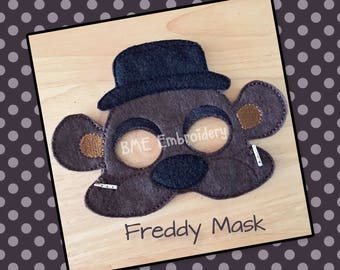 Five Nights at Freddys Felt Mask- Child's Dress Up and Imaginary Play- Birthday Party Favor-Photo Shoot-Pretend Play-Theme Party-Freddy Mask