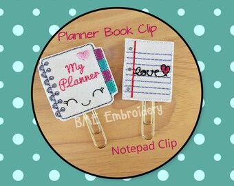 Planner Clips Set-Plan Book & Notepad Clips- Paper Clips-Planner Accesory- Agenda Clip--Filofax- Paper Organization-Journal Clip- Bookmark