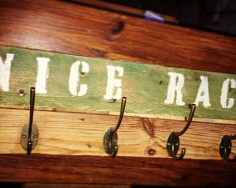 The Nice rack coat rack - a rack with a compliment great for any man cave