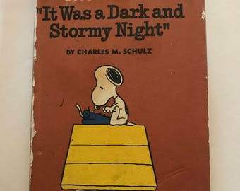 """Snoopy """"And It Was A Dark And Stormy Night"""""""