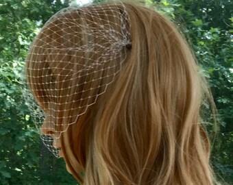 Wedding Veil, Bridal Veil, Bandeau Veil, Birdcage Veil, Bridal Accessory, Gown Accessory, Black Veil, White Veil, Ivory Veil